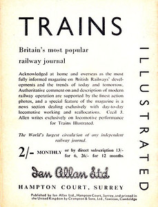 Famous Trains No.4, 9d, rear cover, no code.