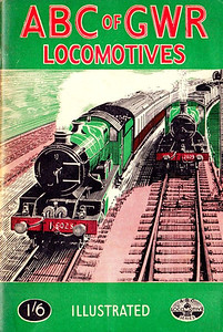 "1947 9th edtn - ABC of GWR Locomotives, published June 1947, 48pp 1/6, no code. This was initially printed erroneously as 6th edition (indicated in frontispiece text - see next photo), this reprint corrected to read 9th edition. Cover drawing of 'King' Class 4-6-0 6028 ""King George VI"" and 2301 Class 0-6-0 2309, is unsigned, but looks like the work of A N Wolstenholme."