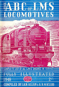 "1946 6th edtn - ABC of LMS Locomotives 1946 (effectively the 6th edition, although not marked as such), compiled by Ian Allan & A B MacLeod, published April 1946, 64pp 2/-, no code. Card cover, with drawing by Baldwin of 'Royal Scot' Class 4-6-0 6110 ""Grenadier Guardsman""; the cover on this and the next edition were unique in that the cover illustration extended across the back cover, a feature that didn't occur again until the 1966 Combined Volume. The pages in this edition are not numbered, and the last 8 are blank, with 'Notes' written at the top of each page."