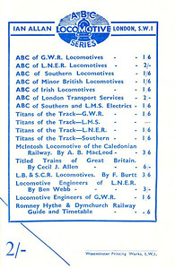 1946 7th edtn - ABC of LMS Locomotives 1946, inside of back cover, advertising other books encompassed by the 'ABC Locomotive Series' name.
