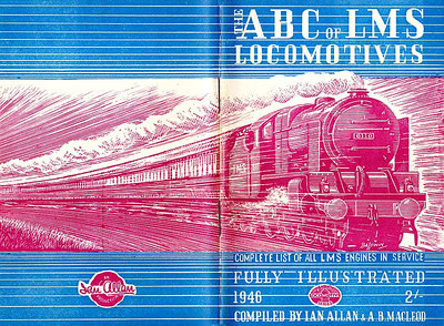 1946 6th edtn - ABC of LMS Locomotives 1946, with opened cover showing the extent of the Baldwin drawing.