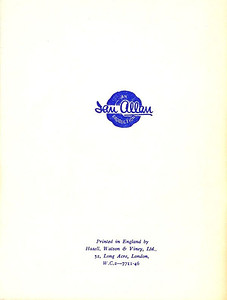 1947 5th edtn - The ABC of LNER Locomotives 5th & renumbering edition, back cover; this version shows the printer's reference as 7711-46.
