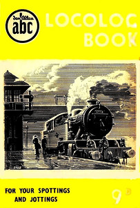 1952 Locolog Book, price 9d. Cover drawing by A N Wolstenholme of an ex-LNER L1 Class 2-6-4T, This run was produced in a variety of colours, this is the light yellow example.