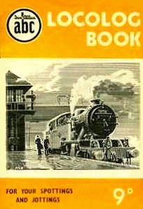 1952 Locolog Book, price 9d. Cover drawing by A N Wolstenholme of an ex-LNER L1 Class 2-6-4T, This run was produced in a variety of colours, this is the dark yellow example.