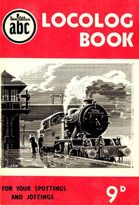 1952 Locolog Book, price 9d. Cover drawing by A N Wolstenholme of an ex-LNER L1 Class 2-6-4T, This run was produced in a variety of colours, this is the red example.