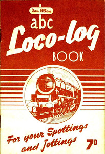 1953 Loco-Log Book, published July 1953, price 7d. The 1953 books were produced in colours to match the six regions, although there are subtle colour differences in some cases. This is a brown Western Region variation.