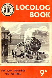 1952 Locolog Book, price 9d. Cover drawing by A N Wolstenholme of an ex-LNER L1 Class 2-6-4T, This run was produced in a variety of colours, this is the orange example.