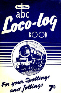 1953 Loco-Log Book, published July 1953, price 7d. The 1953 books were produced in colours to match the six regions, although there are subtle colour differences in some cases. This is the dark blue ER examples.