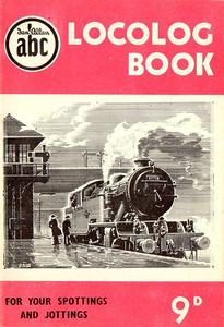 1952 Locolog Book, price 9d. Cover drawing by A N Wolstenholme of an ex-LNER L1 Class 2-6-4T, This run was produced in a variety of colours, this is the pink example.