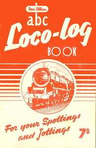 1953 Loco-Log Book, published July 1953, price 7d. The 1953 books were produced in colours to match the six regions, although there are subtle colour differences in some cases. This is the tangerine NER edition.