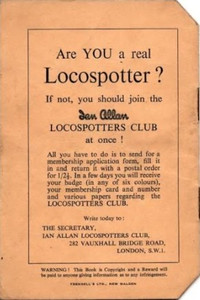 1949 Locospotters Log Book Back.