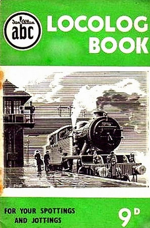 1952 Locolog Book, price 9d. Cover drawing by A N Wolstenholme of an ex-LNER L1 Class 2-6-4T, This run was produced in a variety of colours, this is the green example.
