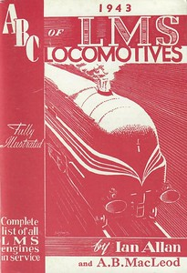 1943 ABC of LMS Locomotives 1943 (1st edition, June 1943), published 1982, 53pp 50p, code: EX/82, ISBN 0-7110-1261-X; reprinted 1983, priced 60p and coded EX/83. Original cover. 1982 reprints all coded EX/82, and all 1983 reprints were EX/83 (see following two photos).