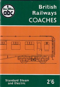 1958 ABC British Railways Coaches (1st edition, September 1958) published June 1999, 68pp £4.99, ISBN 0-7110-2694-7, no code. Cover is same as the original; this book only contains lists of number series, not lists of numbers, as in the usual spotters' books.
