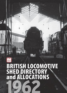 "1962 British Locomotive Shed Directory and Allocations, published September 18th 2014, 196pp £11.00, ISBN 0-7110-3809-0. Hardback, A5 format. Laminated cover photo of Bulleid 'Merchant Navy' Class Pacific 35023 ""Holland-Afrika Line"" at Nine Elms MPD. This is a reissue of the 1962 Shed Directory, but the allocations section is a new addition."