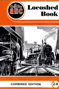1952 ABC Locoshed Book, Combined Edition (July 1952), published January 2002, 112pp £4.99, ISBN 0-7110-2875-3, code: 0201/A2. Cover is identical to the original combined edition, with an A N Wolstenholme drawing of a BR Standard Class 5MT 73xxx on a turntable. Unlike the original, the three constituent parts do not have their individual covers within this reissue.