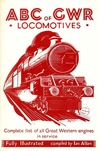1943 ABC of GWR Locomotives (2nd edition, October 1943), published 1982, 41pp 50p, code: EX82, ISBN 0-7110-1259-8. Reprinted with original cover; it will be noted that the code for all editions was the same: EX82. Reprinted in 1983, identical except code was EX/83, and priced 60p.