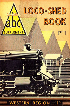 "1950 Pt.1, Loco-Shed Book - Western Region, published August 1950, 33pp 1/-, no code. No photos inside. A N Wolstenholme cover drawing shows 'King' Class 6021 ""King Richard II"" on the right. These first Locoshed books were officially named 'ABC Supplements Pts. 1-4'. All four 1950 Locosheds were included with the reissued 1948 Combined Volume in 1972, reprinted 1973/75/76, and reissued again in 2000 (see Section 012)."