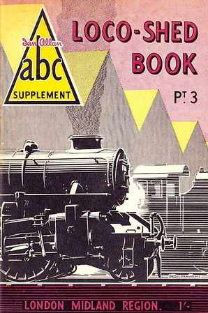 1950 Pt.3, Loco-Shed Book - London Midland Region, published December 1950, 48pp 1/-, code: 144/424/25M./1250. No photos inside. A N Wolstenholme drawing of an Ivatt 43xxx 2-6-0 on the cover. These first Locoshed books were officially named 'ABC Supplements Pts. 1-4'. All four 1950 Locosheds were included with the reissued 1948 Combined Volume in 1972, reprinted 1973/75/76, and reissued again in 2000 (see Section 012).