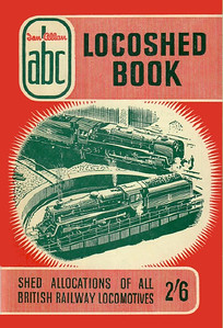Autumn 1957 Locoshed Book, published June 1957, 96pp 2/6, code: 598/438/350/657; 1st & 2nd reprints August 1957, one coded 709/462/50/857, the other 716/462/50/857; 3rd reprint September 1957, code: 725/473/50/957 (see following four photos for variant rear covers/codes). No photos inside. A N Wolstenholme cover drawing of BR Standards & turntable; this picture was used on the Spring 1957 and Spring 1958 editions.