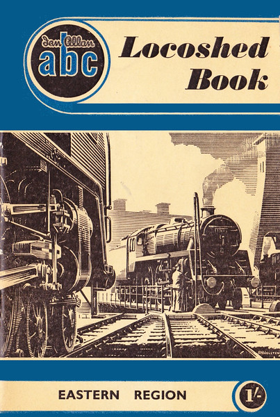 1952 Locoshed Book - Eastern Region, published July 1952 1/-, code: 248/102/250/752. No photos inside. A N Wolstenholme cover drawing of a BR Standard Class 5MT 73xxx 4-6-0 on a turntable.