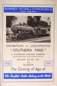 1947 Romney, Hythe & Dymchurch Railway 25 Years Anniversary pamphlet, published January 1947, 8pp, free, no code.