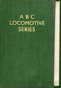 ABC Locomotive Series book holder in green, no pencil holder, c.1945-47. Hardback, cloth covered.