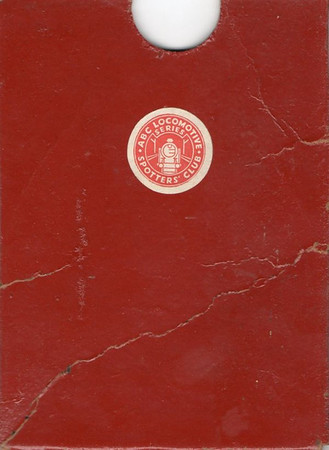 ABC/small notebook wallet in red, c.1945; the Ian Allan Locospotters Club was formed in March 1945, so this probably dates from soon after that date.