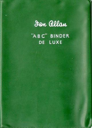 Ian Allan ABC Binder de Luxe, plastic, in SR green, c.1958 onwards. Later binders had a smoother finish than earlier batches.