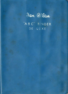 Ian Allan ABC Binder de Luxe, plastic, in ScR light blue, c.1958 onwards. Later binders had a smoother finish than earlier batches.