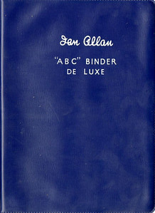 Ian Allan ABC Binder de Luxe, plastic, in ER dark blue, c.1958 onwards. Later binders had a smoother finish than earlier batches.