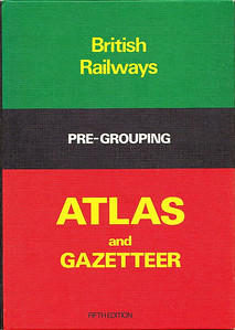 "1976 British Railways Pre-Grouping Atlas and Gazetteer, 5th edition, published January 1976, 84pp £5.50, code: EX/0176, ISBN 0-7110-0320-3. Hardback, 9.5"" x 6.75"". A new edition, published in 1997, utilised the same cover, and ISBN."