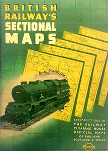 "1948 British Railways Sectional Maps, published 1948. 68pp (37 pages of maps), no code. Large format. Cover photo of LMS 'Royal Scot' Class 4-6-0 6153 ""The Royal Dragoon"" without smoke deflectors."