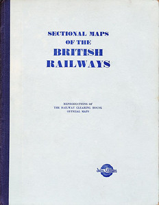 1948 Sectional Maps of the British Railways, published 1948. Large format, hardback. This version is pale blue with dark blue binding.