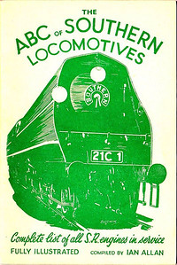 "1943 5th edtn - Southern Locomotives, published October 1943, identical reprint in December 1943, both 48pp 1/6, no code. Cover drawing by Baldwin of Bulleid SR 'Merchant Navy' Class Pacific 21C1 ""Channel Packet"". This edition was reissued in 1967 (in slightly larger format) as part of the 'Transport of the Forties' series (see Section 012)."