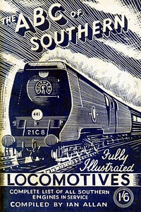 "1946 8th edtn - Southern Locomotives 7th edition (2nd) second, published July 1946, 48pp 1/6, no code. This is quite confusing, as it is the THIRD version of the 7th edition, the previous two appearing in June and November 1945, with the same Baldwin drawing of 'Merchant Navy' Class Pacific 21C8 ""Orient Line"", except this time printed in blue instead of green. This very dark blue example further shows how much the print colour can vary."