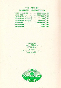 1945 7th edtn (2nd), inside front cover: compare this with that of 7th edition (1st).