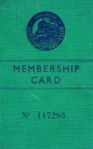 Ian Allan Locospotters Club membership card No.117280, from around 1948; much larger than the previous three examples.