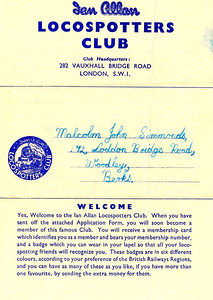 Our Aim ('Raison d'etre') letter, page 2; this 4-page introduction was included in a member's pack upon joining, and laid out in detail the aims of the Ian Allan Locospotters Club; this example (the rear of the privios image) dates from the late 1950s, when both sides of the paper was used.