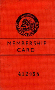 Ian Allan Locospotters Club membership card No.412058, from around 1957; note the number; it gives some idea of how many members there were by this time.