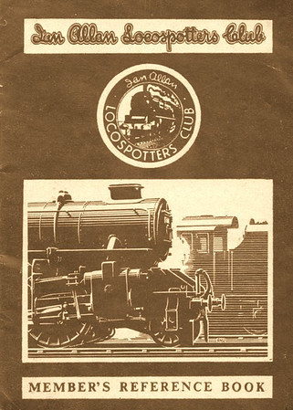 1950-58 Ian Allan Locospotters Club Reference Book in WR brown, containing 16pp until 1955, when the number of pages increased to 32. Cover drawing by A N Wolstenholme of an LM Ivatt 43xxx 2-6-0.