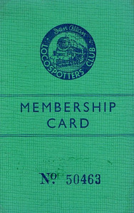 Ian Allan Locospotters Club membership card No.50463, from around 1948.