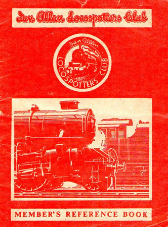 1950-58 Ian Allan Locospotters Club Reference Book in LMR red, containing 16pp until 1955, when the number of pages increased to 32. Cover drawing by A N Wolstenholme of an LM Ivatt 43xxx 2-6-0.