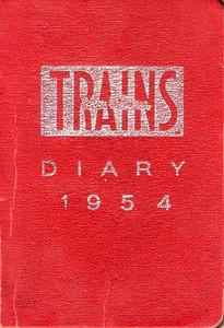 1954 Ian Allan Trains Diary.