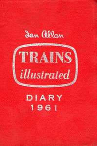 1961 Ian Allan Trains Illustrated Diary.