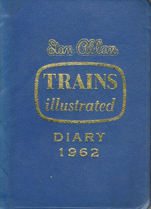 1962 Ian Allan Trains Illustrated Diary.