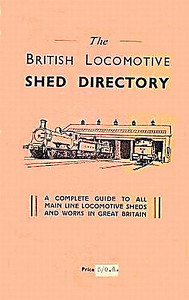 "1947 The British Locomotive Shed Directory, 1st edition (with pink cover), published December 1947, 112pp 7/6, no code. This 1st edition was produced in several colours, and was not an Ian Allan publication; when IA began publishing this series, they continued using the numerology of these editions (ie: 10th edition). Larger format 9.5"" x 5.5"". Compiled and published by both R S Grimsley and Aidan L F Fuller as separate books. Note that the price has been amended to 5/- (25p)."