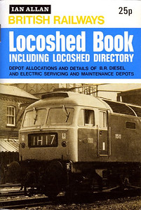 1973 British Railways Locoshed Book, including Locoshed Directory, published April 1973, 80pp 20p, ISBN 7110-0431-5, code: 1524/LM/473. Cover photo of Brush Type 4 1511. Same format & price as the 1972 edition.
