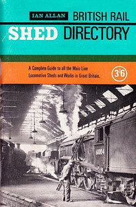 "1966 British Rail Shed Directory, 14th edition, published March 1966, 94pp 3/6, code: 1479/275/ABEX/366. Cover photo of A4 Class Pacific 60004 ""William Whitelaw"" at Neville Hill MPD. New title, notable mainly for omitting the word 'Locomotive', and now using 'British Rail'."