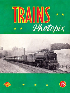 "Trains Photopix, published October 1949, 16pp 1/6, code: 85/300/20/1049, softback. Cover photo of ex-LNER A2 Class Pacific 60537 ""Bachelors Button""."